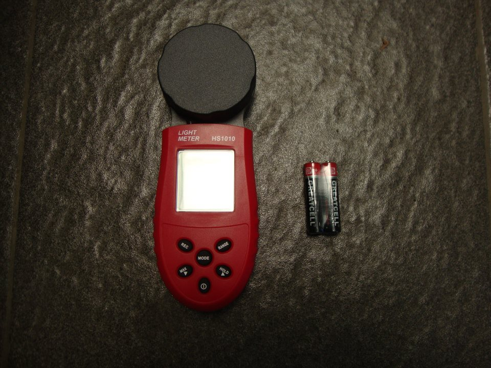 Digital Light Luminous Flux Meter HS1010 Range 0-200,000 Lux